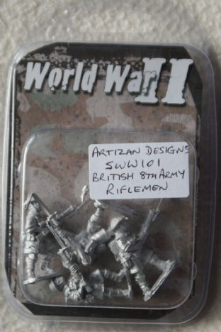 Artizan Designs 28mm SWW101 British 8th Army Riflemen